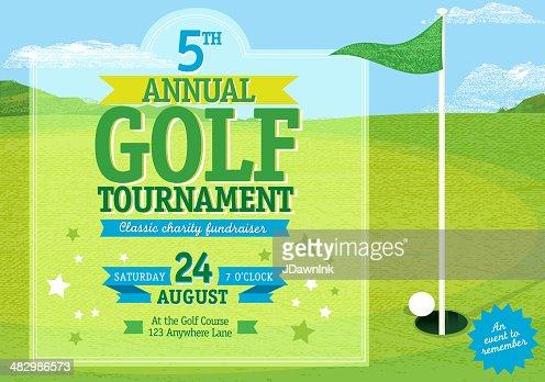 Womens Golf Tournament Template Vector Art Getty Images