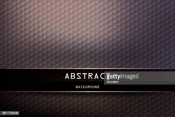 Horizontal Hexagon geometric background - Dark Ivory, Neutral Purple-Blue, Black