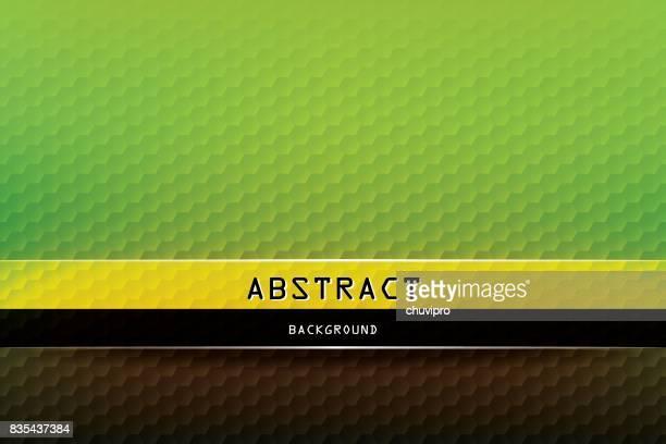 Horizontales Sechseck geometrische Hintergrund - grün, gelb, braun, schwarz