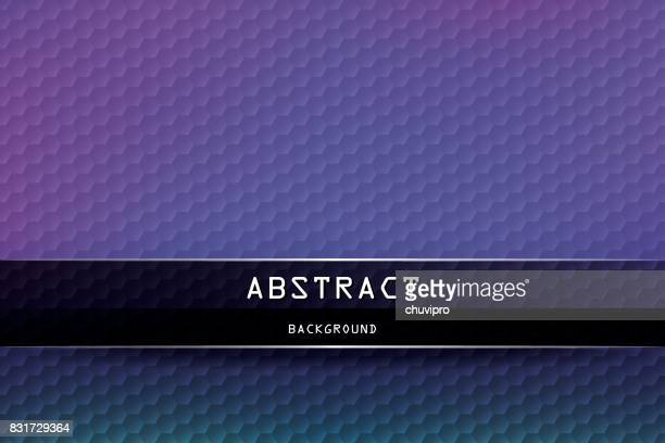 horizontal hexagon geometric background - purple, dark navy blue, dark green, black - purple background stock illustrations, clip art, cartoons, & icons