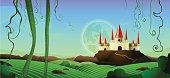 Horizontal Landscape Castle Background