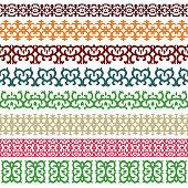 Horizontal ornaments with Caucasian decorative elements