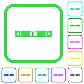 Horizontal scroll bar vivid colored flat icons