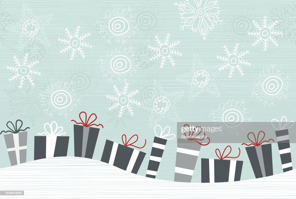 horizontal seamless winter pattern