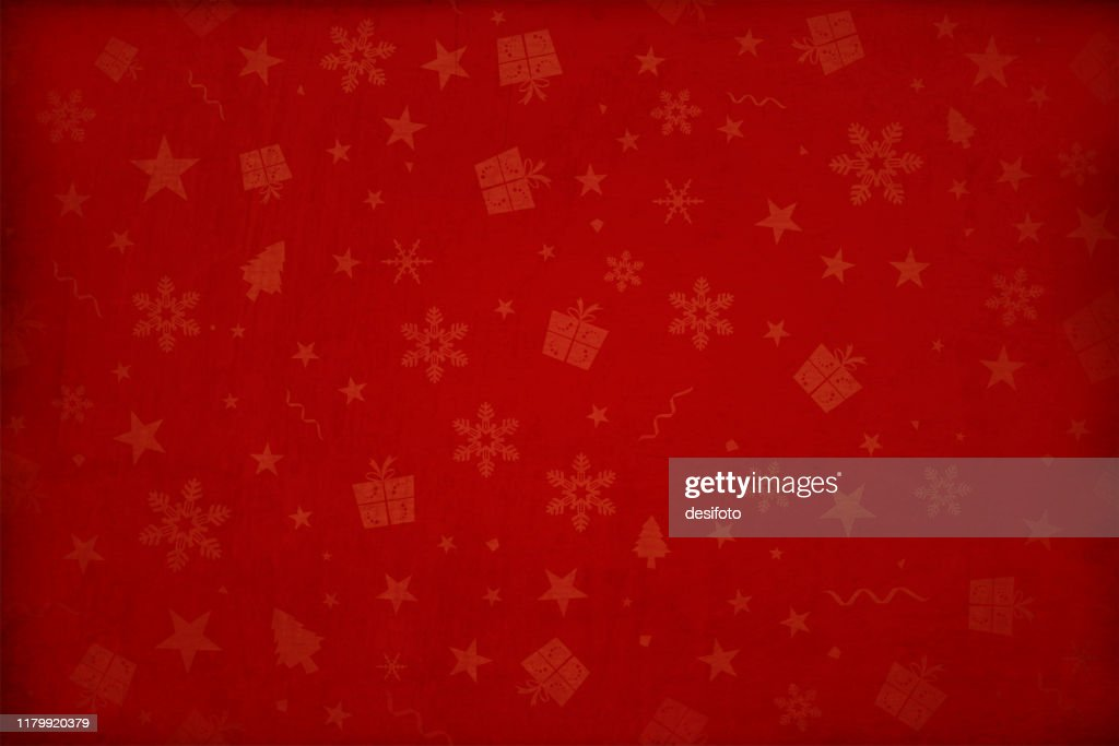 Horizontal vector illustration - Dark wine red colored gradient effect wallpaper texture all over pattern of Xmas elements Christmas backgrounds : Stock Illustration