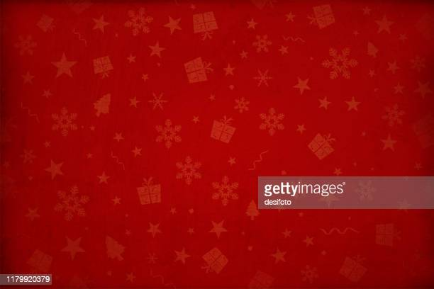 horizontal vector illustration - dark wine red colored gradient effect wallpaper texture all over pattern of xmas elements christmas backgrounds - red stock illustrations