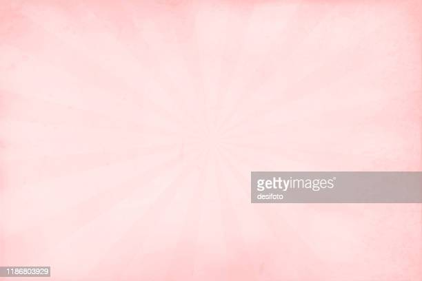 a horizontal vector illustration in two shades of soft pink colour, defused  backgrounds with sunburst - femininity stock illustrations