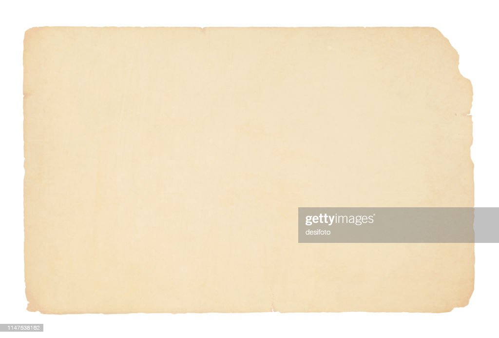 A horizontal vector illustration of a plain blank beige colored old paper : stock illustration