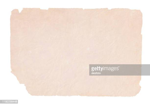 a horizontal vector illustration of a plain blank beige colored very old ripped paper - at the edge of stock illustrations