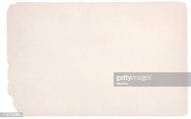 a horizontal vector illustration of a plain blank beige colored very old ripped paper. parchment style old ripped backgrounds - history stock illustrations
