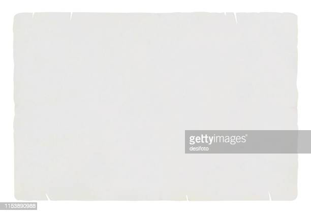 a horizontal vector illustration of a plain blank light grey  colored old ripped paper - cream colored stock illustrations