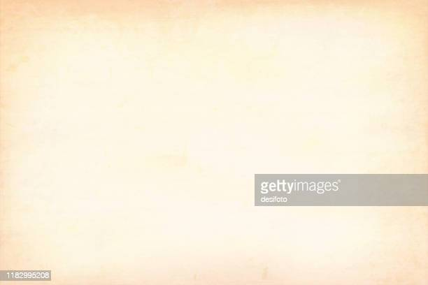horizontal vector illustration of an empty light brown, beige shade grunge grungy textured background for stock - cream colored stock illustrations