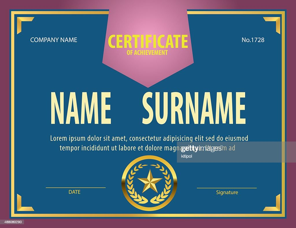 Horizontal Vintage Certificate Templatediplomaletter Size Lay Vector