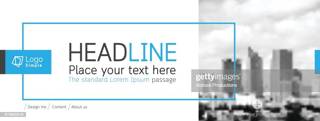 Horizontal web banner, vector template