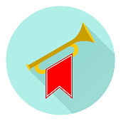 Horn, trumpet icon