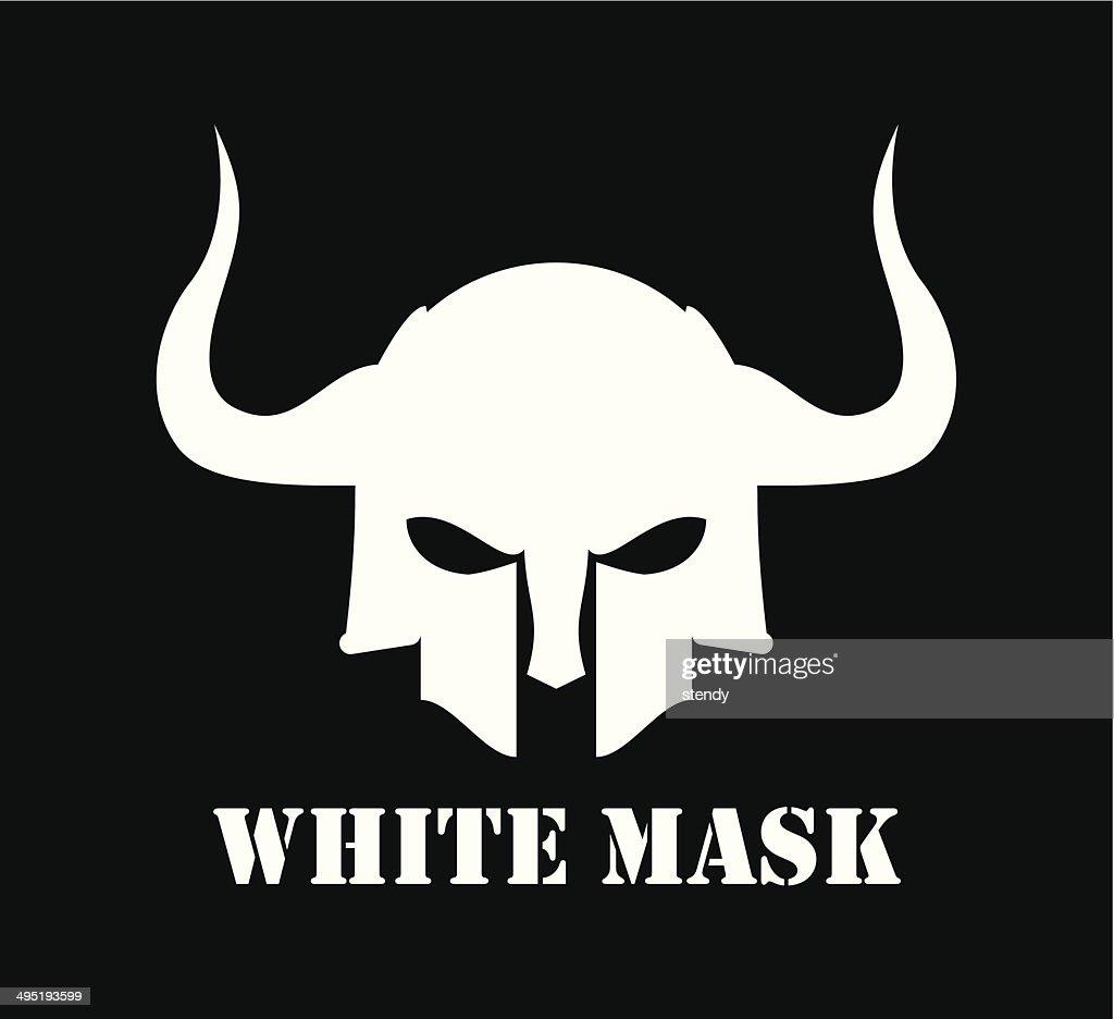 Horned White Mask