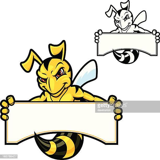 Hornet Mascot Sign