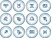 Horoscope Zodiac Signs Rubber Stamps