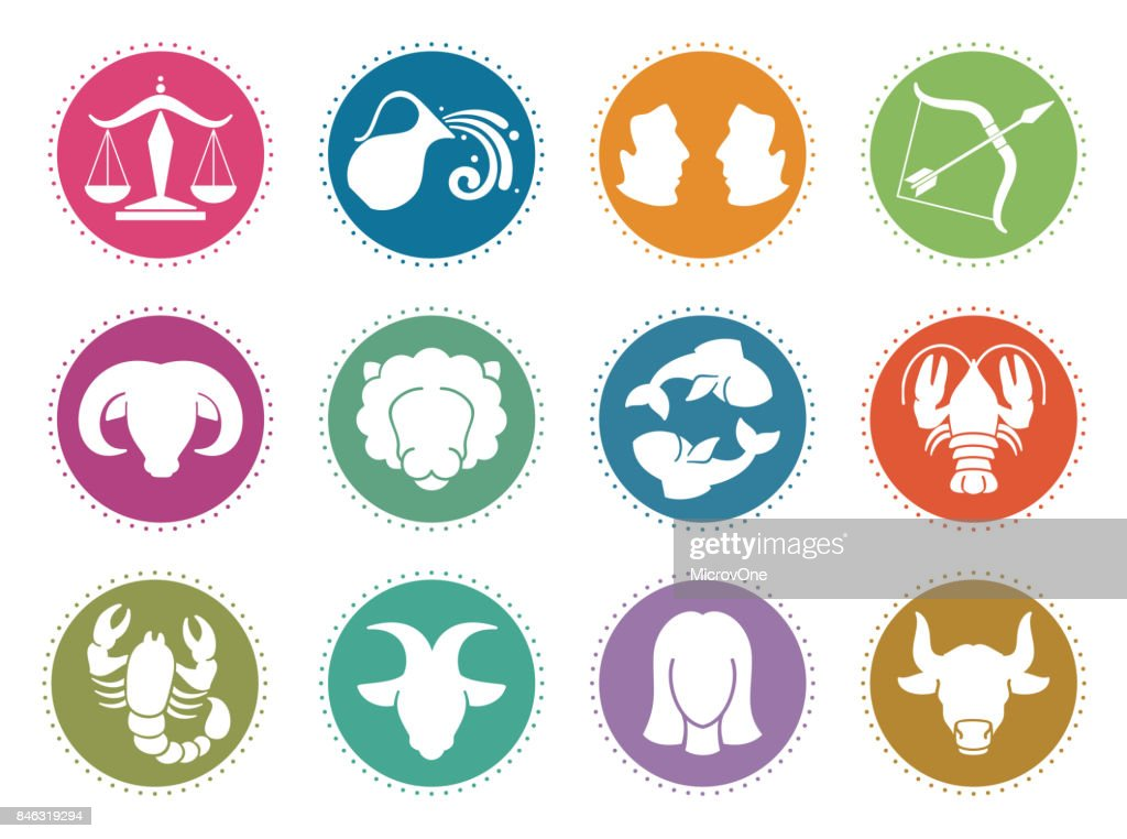 Horoscope zodiac vector signs. Astrology symbols set