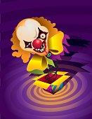 horror clown - surprises box