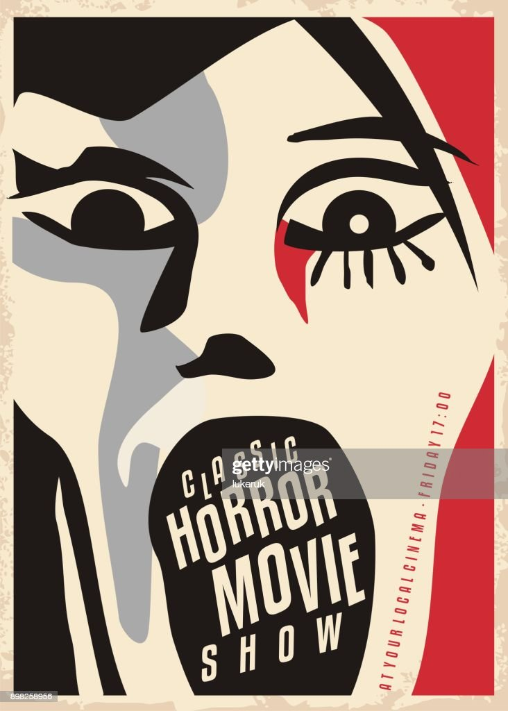 Horror movies poster design