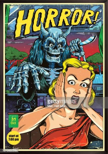 horror poster - film festival stock illustrations