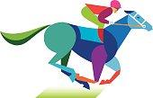 Horse and jockey graphic display