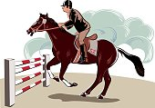 Horse and obstacle race