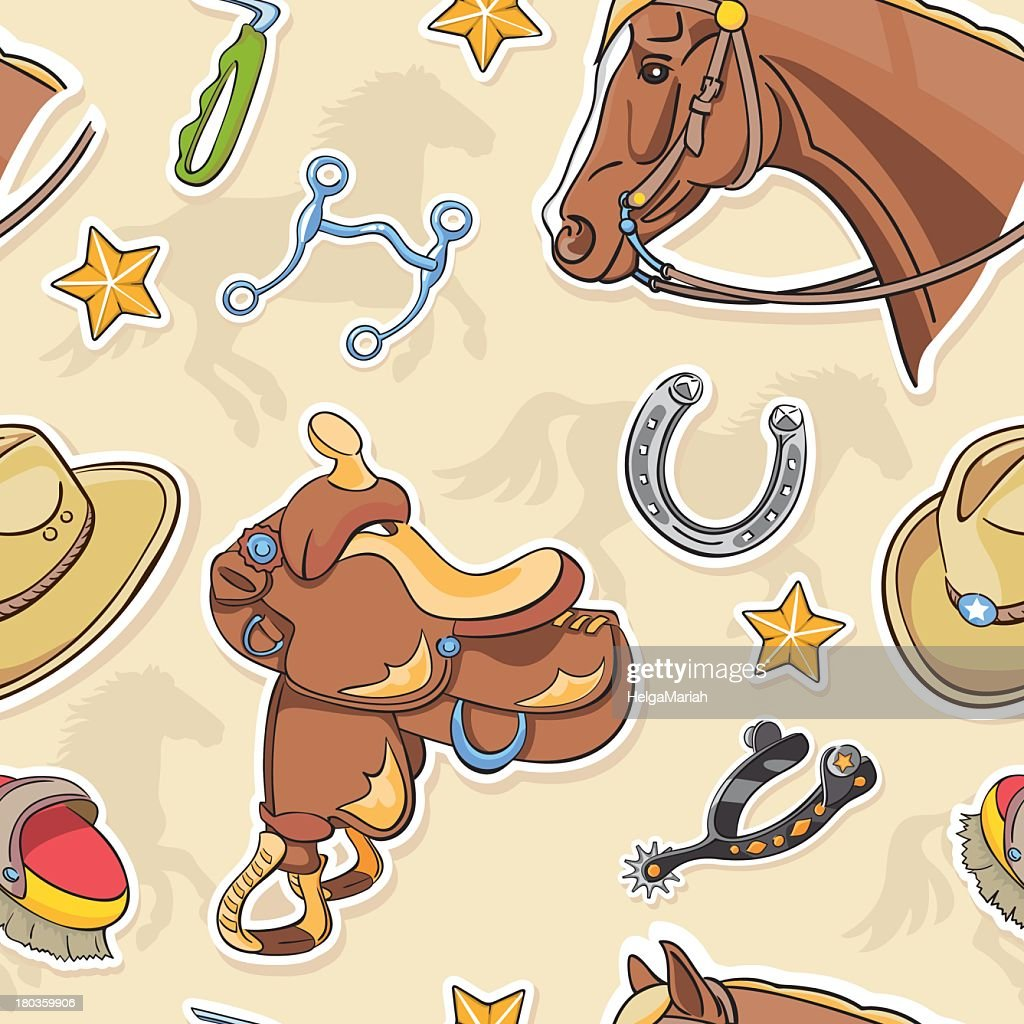 Horse and Western Riding Tack Background