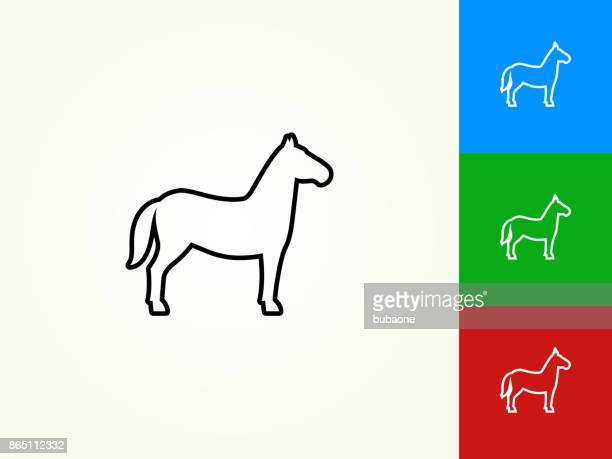 Horse Black Stroke Linear Icon