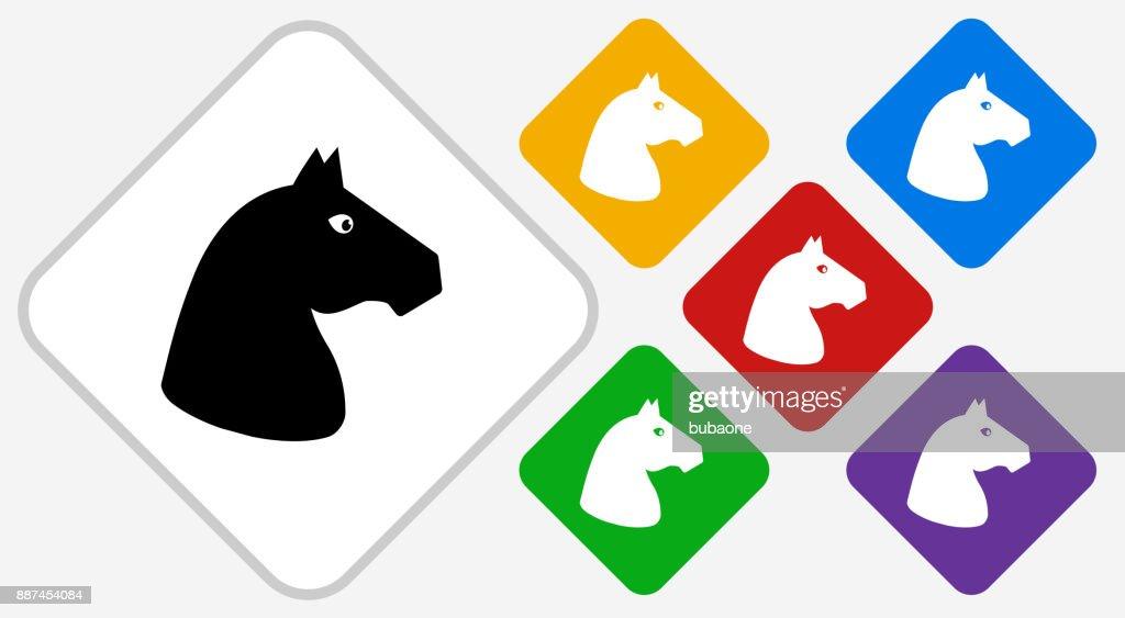 Horse Color Diamond Vector Icon High-Res Vector Graphic ...