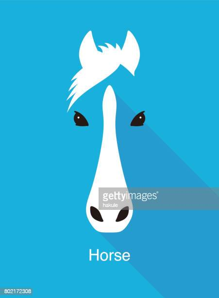 horse face flat icon simple design, vector illustration