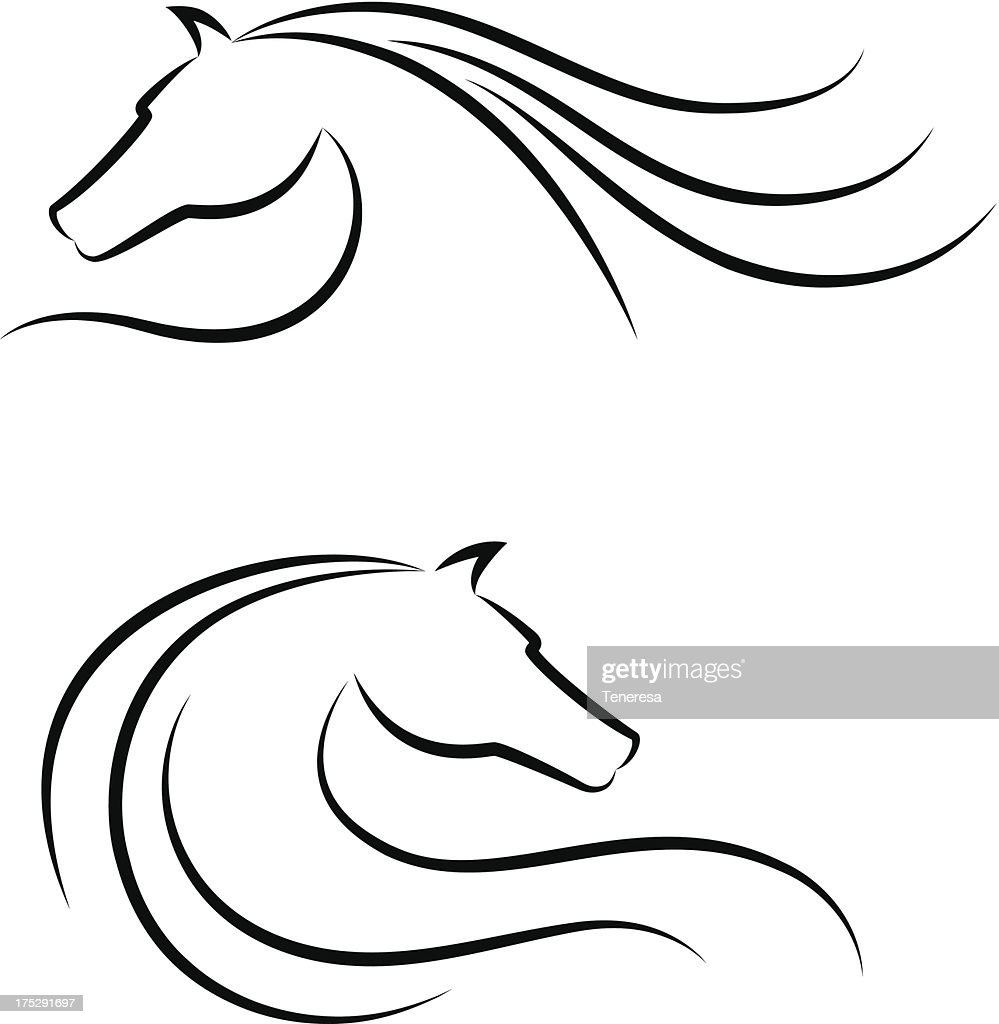 Horse head emblem set