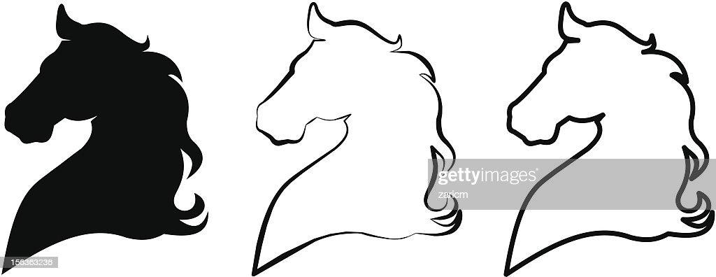 Horse head : stock illustration