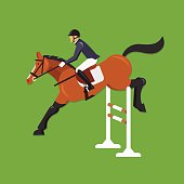Horse Jumping Over Fence, Equestrian sport