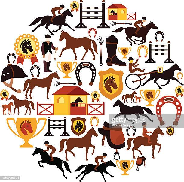 Horse Racing Collage
