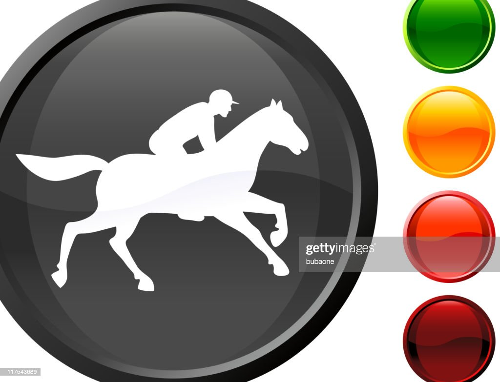 Horse racing internet royalty free vector art