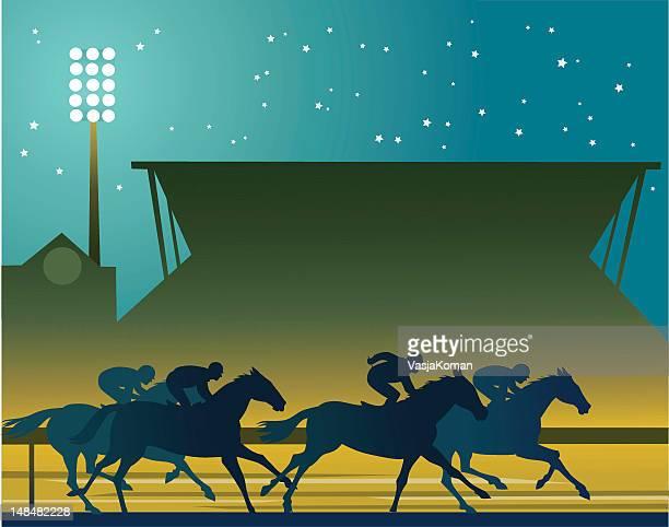 Corrida de Cavalos sob as luzes
