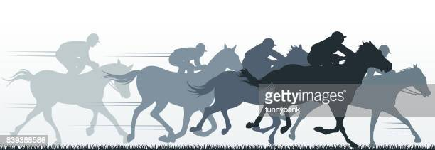 ilustrações de stock, clip art, desenhos animados e ícones de horse sport - pista de atletismo