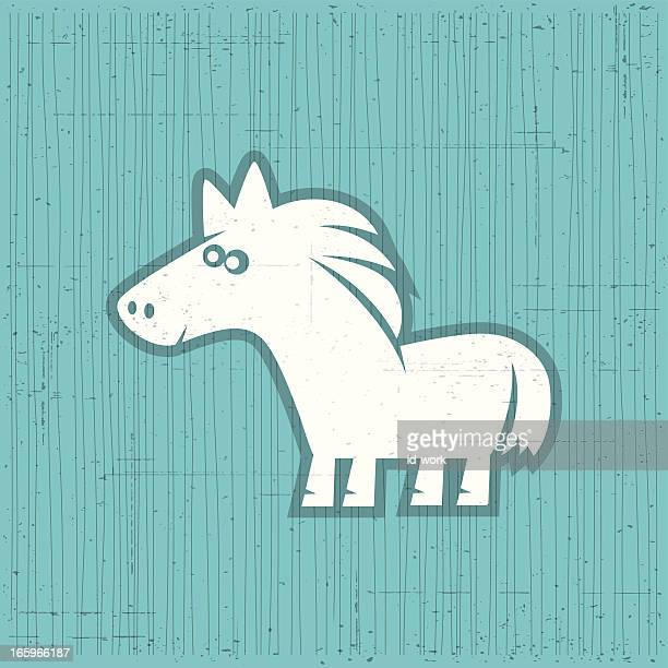 ilustraciones, imágenes clip art, dibujos animados e iconos de stock de símbolo de caballos - mula