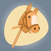 Horse toy colorful icon