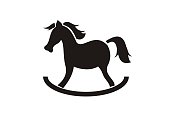 horse toy simple icon
