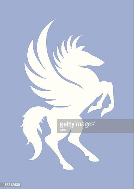 horse - pegasus stock illustrations, clip art, cartoons, & icons