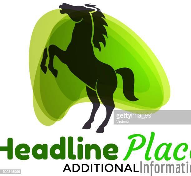 horse - mustang wild horse stock illustrations, clip art, cartoons, & icons