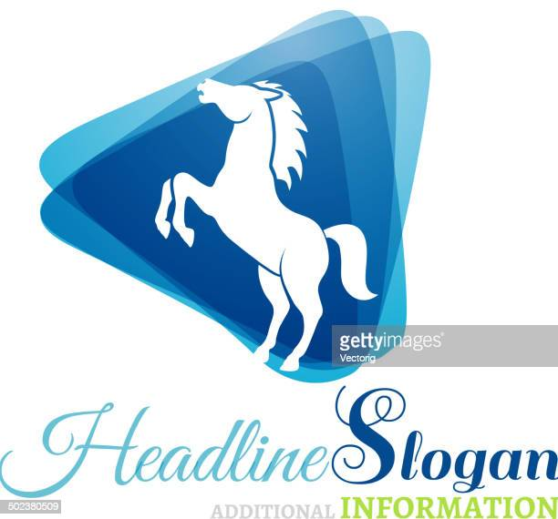 horse - stallion stock illustrations, clip art, cartoons, & icons