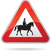 horse warning sign