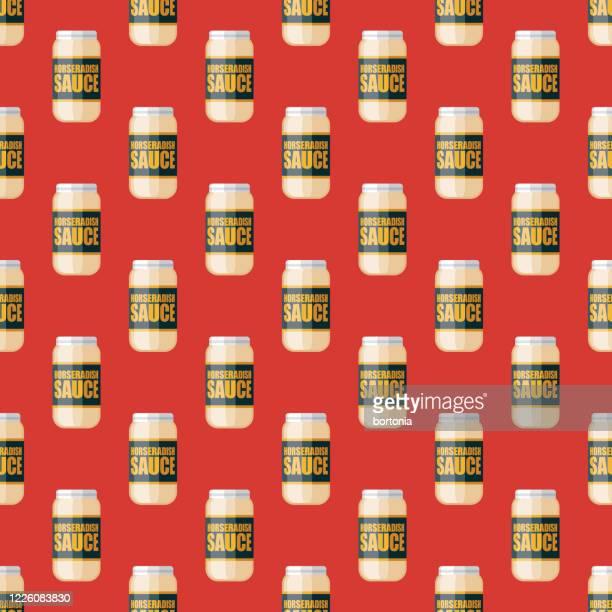 ホースラディッシュ調味料パターン - 西洋わさび点のイラスト素材/クリップアート素材/マンガ素材/アイコン素材