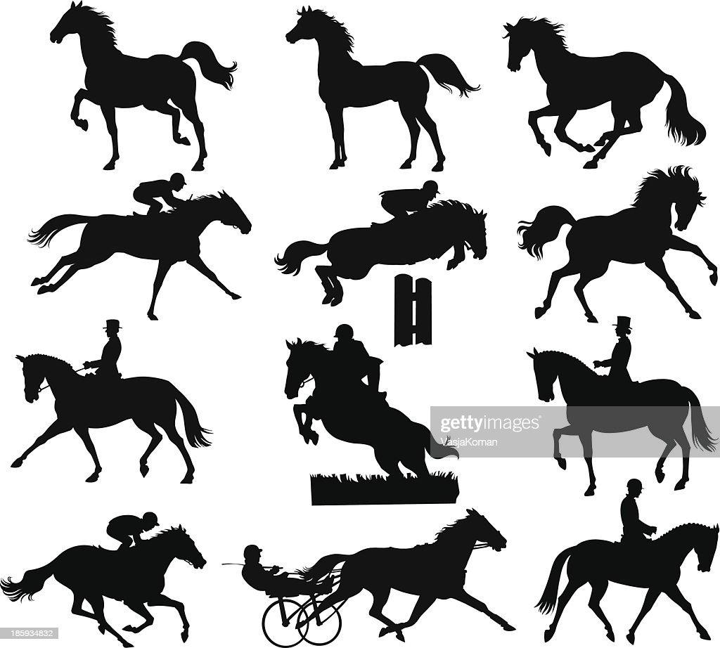 Horses Silhouettes