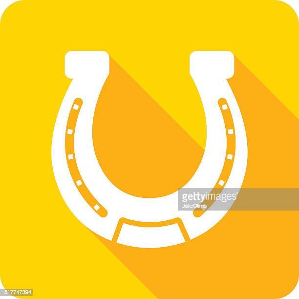 horseshoe-symbol kontur - hufeisen stock-grafiken, -clipart, -cartoons und -symbole