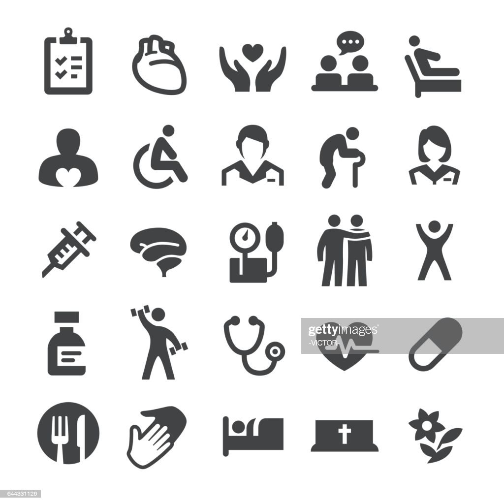 Hospice Care and Nursing Home Icons - Smart Series : stock illustration